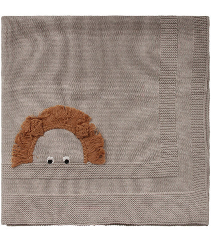 Stella McCartney Organic Cotton Knitted Blanket Beige