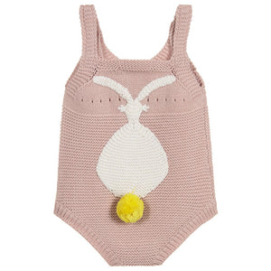 Stella McCartney Kids Girls Pink Knitted Bunny Shortie