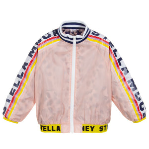 Stella McCartney Kids Girls Pink Logo Jacket