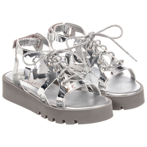 Stella McCartney Kids Girls Silver Stars Sandals
