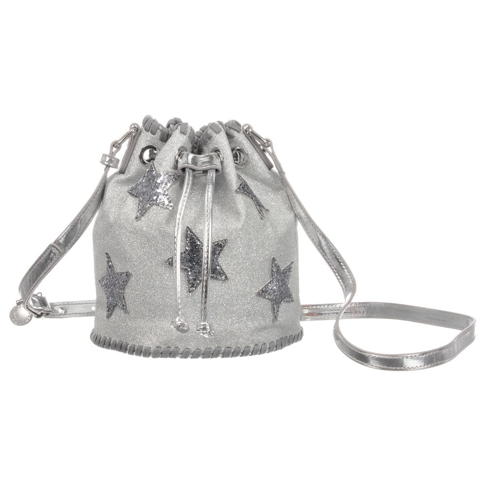 Stella McCartney Kids Silver Glitter Handbag (20cm)