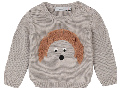 Stella McCartney Kids Organic Knitted Jumper Beige
