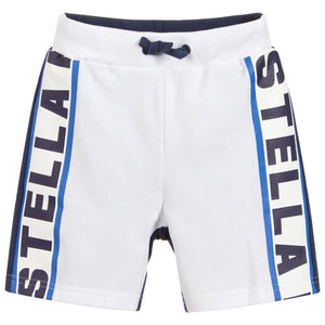 Stella McCartney Kids White Cotton Jersey Shorts