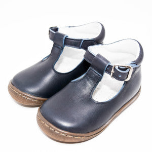 Geppetto's Toddler Navy Leather Shoes