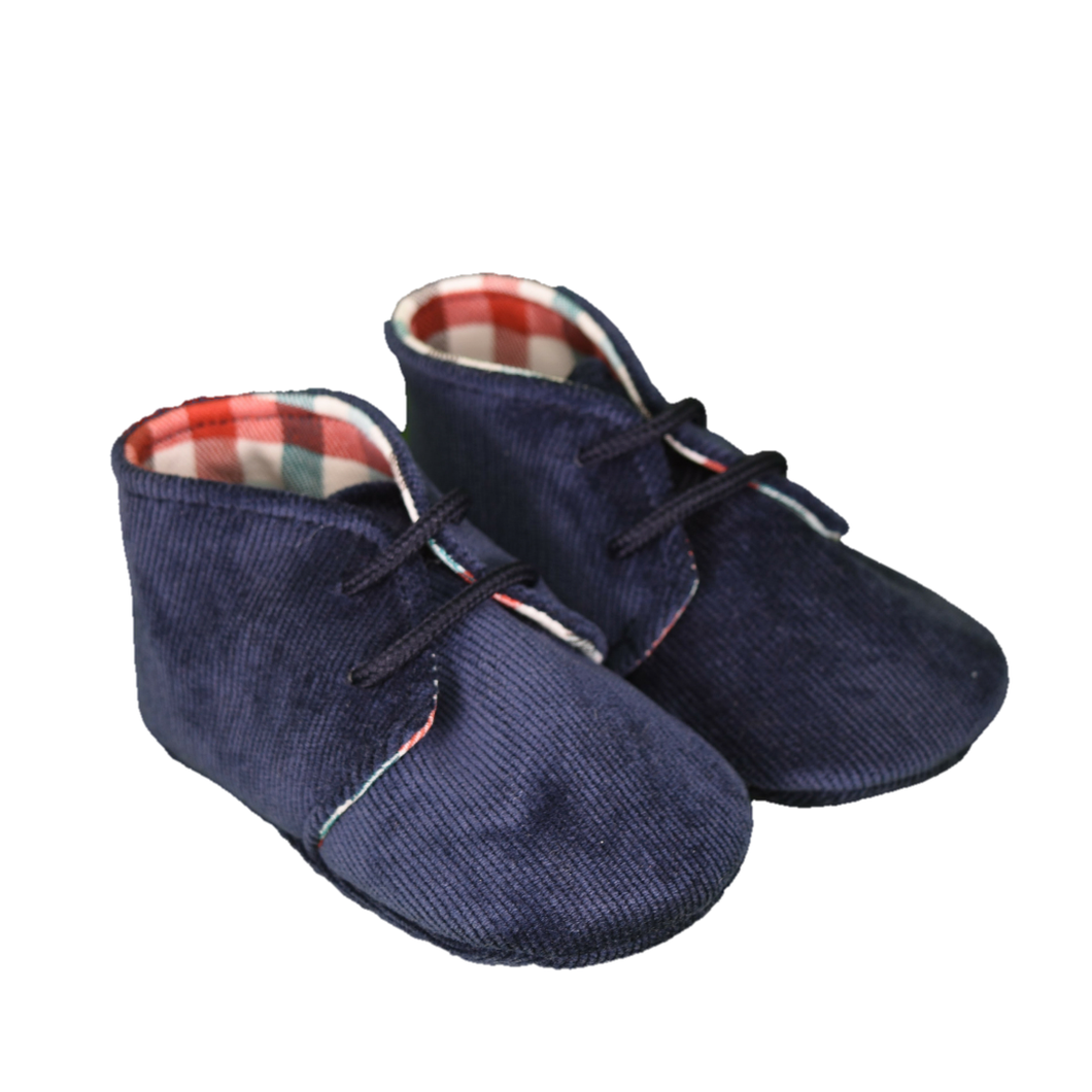 Bimbalo Baby Boy Navy Corduroy Shoes
