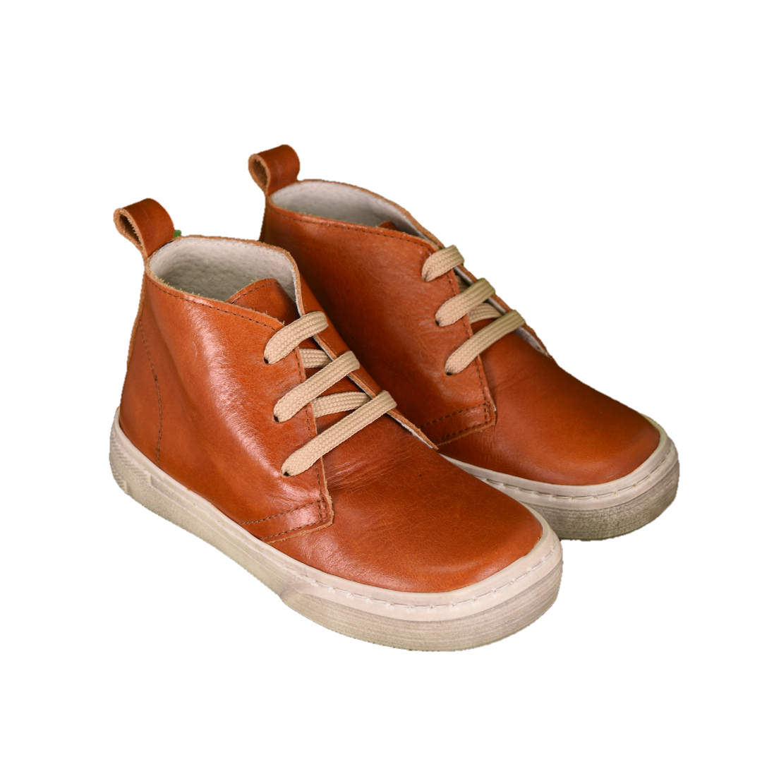Geppetto's Lace Up Ankle Camel Shoes
