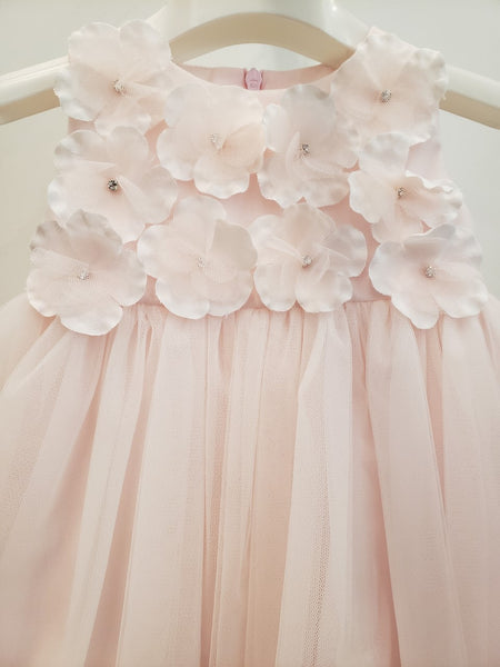 Bimbalo Baby Girl Powder Pink Tulle Dress