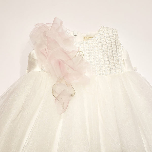 Bimbalo Blushing Flowers Shimmering Tulle Dress