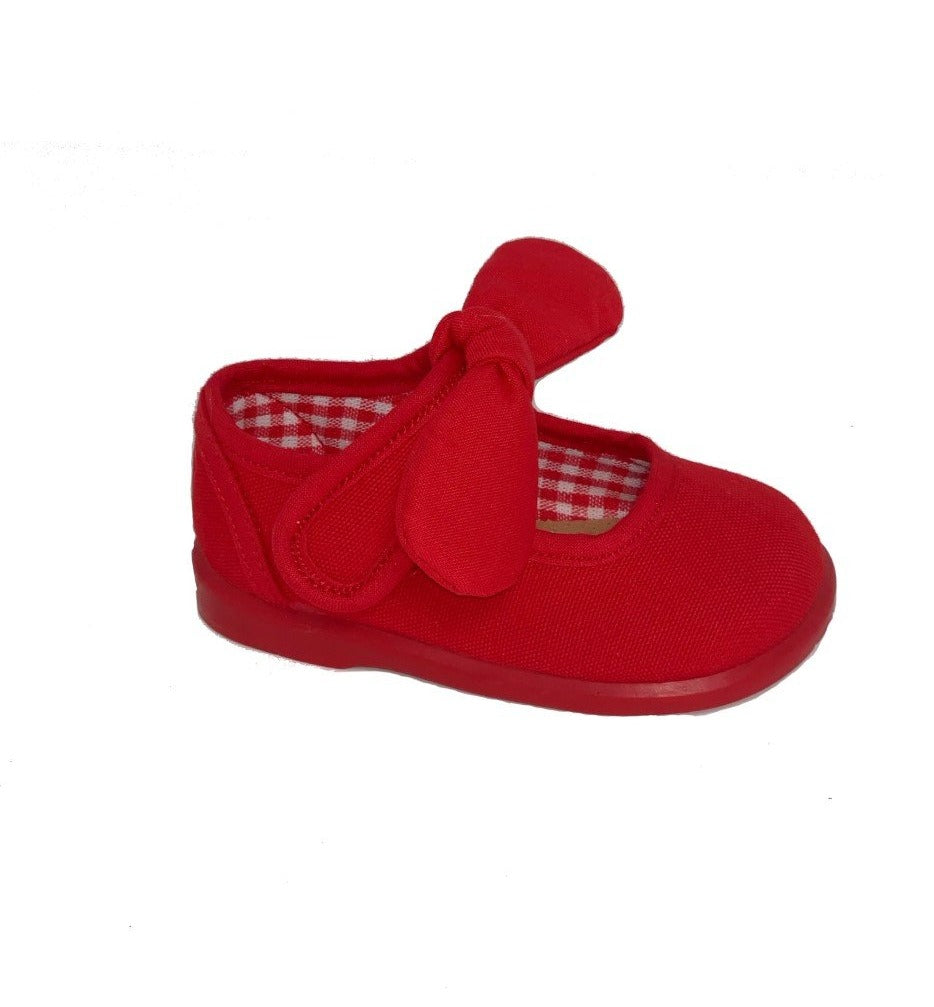 Gepo Red Bow Canvas Shoes
