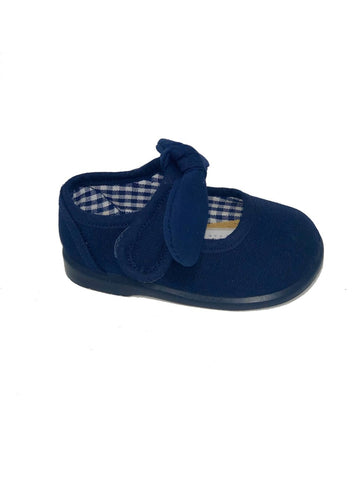 Gepos Navy Blue Canvas Girl Shoes
