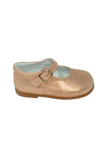 Geppettos Rose Gold Mary Janes
