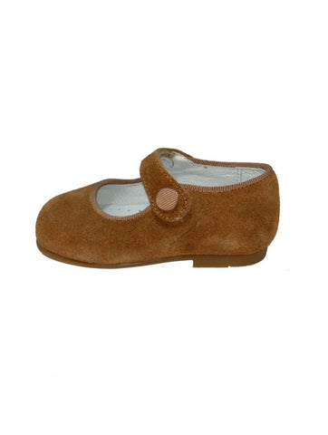 Geppettos Suede Caramel Mary Janes