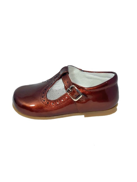 Geppettos Copper Patent Leather Mary Janes
