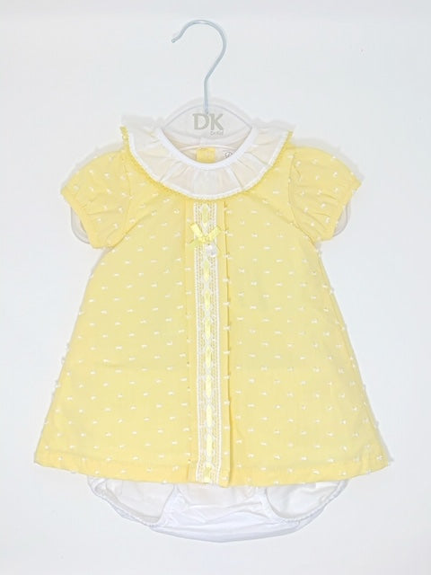 Dr. Kid Short Baby Yellow Cotton Dress