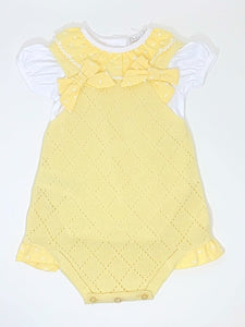 Dr. Kid Yellow Cotton Playsuit