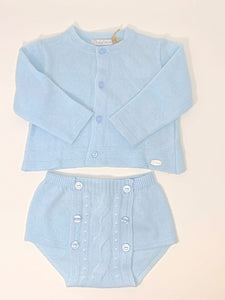 Dr. Kid Baby Blue Knit Cardigan and Bottom