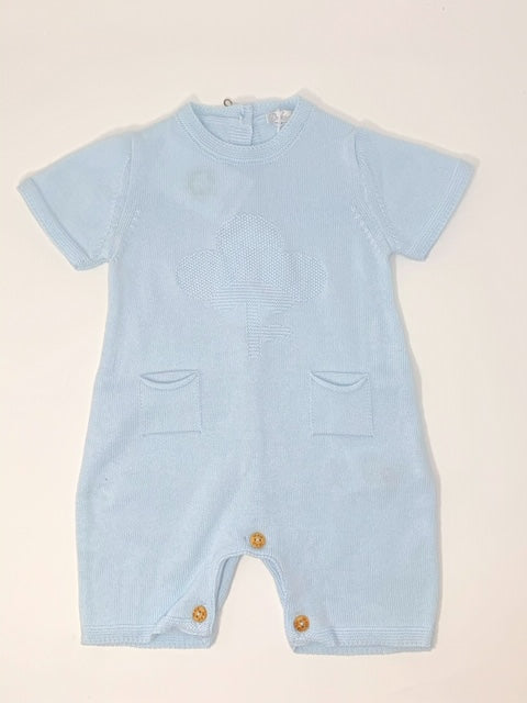 Dr. Kid Organic Baby Blue Cotton Shortie