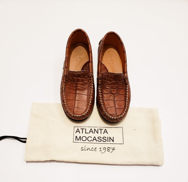 Atlanta Mocassin Brown Leather Moccasins