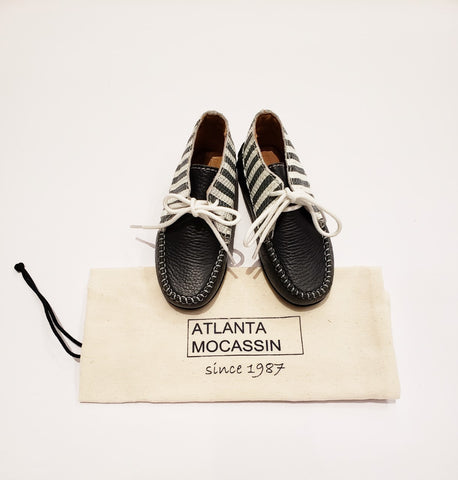 Atlanta Mocassin Navy/White High Top Shoes