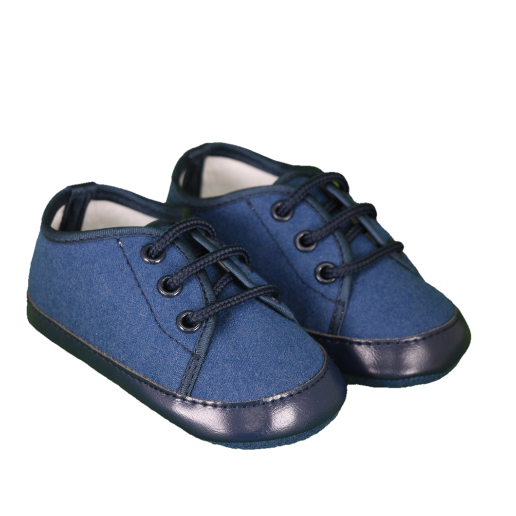Bimbalo Baby Boy Leather Trim Shoes