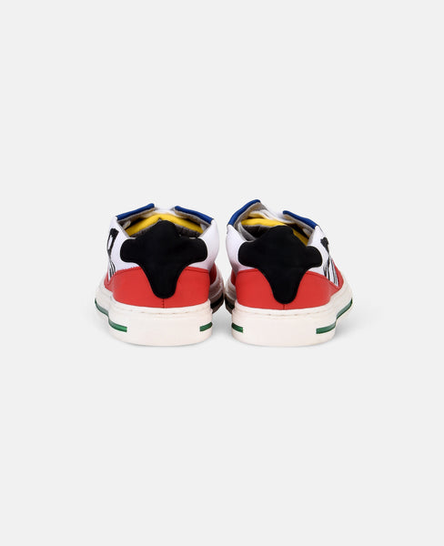 Stella McCartney Zuma Boys ColorBlock Lace Up Sneaker TriColor
