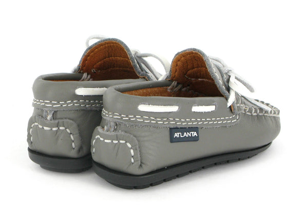 Atlanta Mocassin White Lace Moccasins in Black