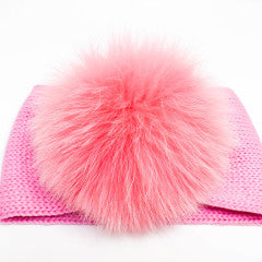 Bimbalo Big Headband with Fur Pink