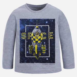 Mayoral Boy Long Sleeve Space T-shirt