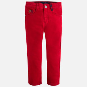 Mayoral Boys Long Twill Pants - Red