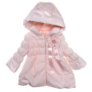Bimbalo Pink Hooded Coat with Flower