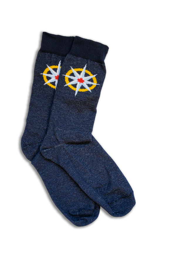 RCGS Compass Rose socks
