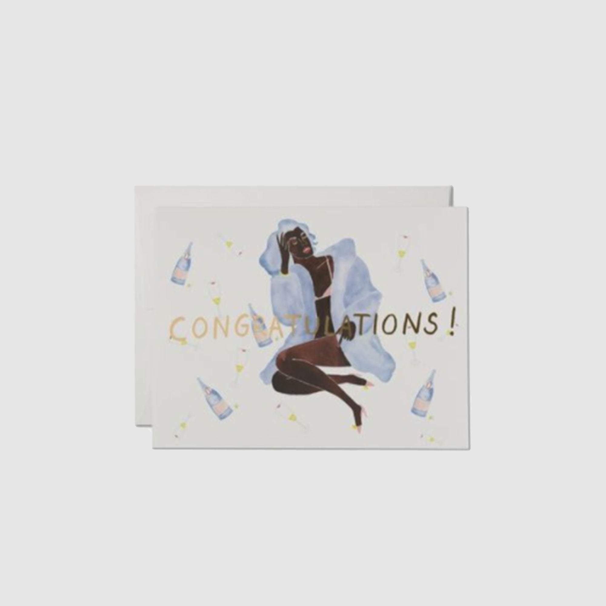 CONGRATULATIONS BABE  LETTERPRESS CARD