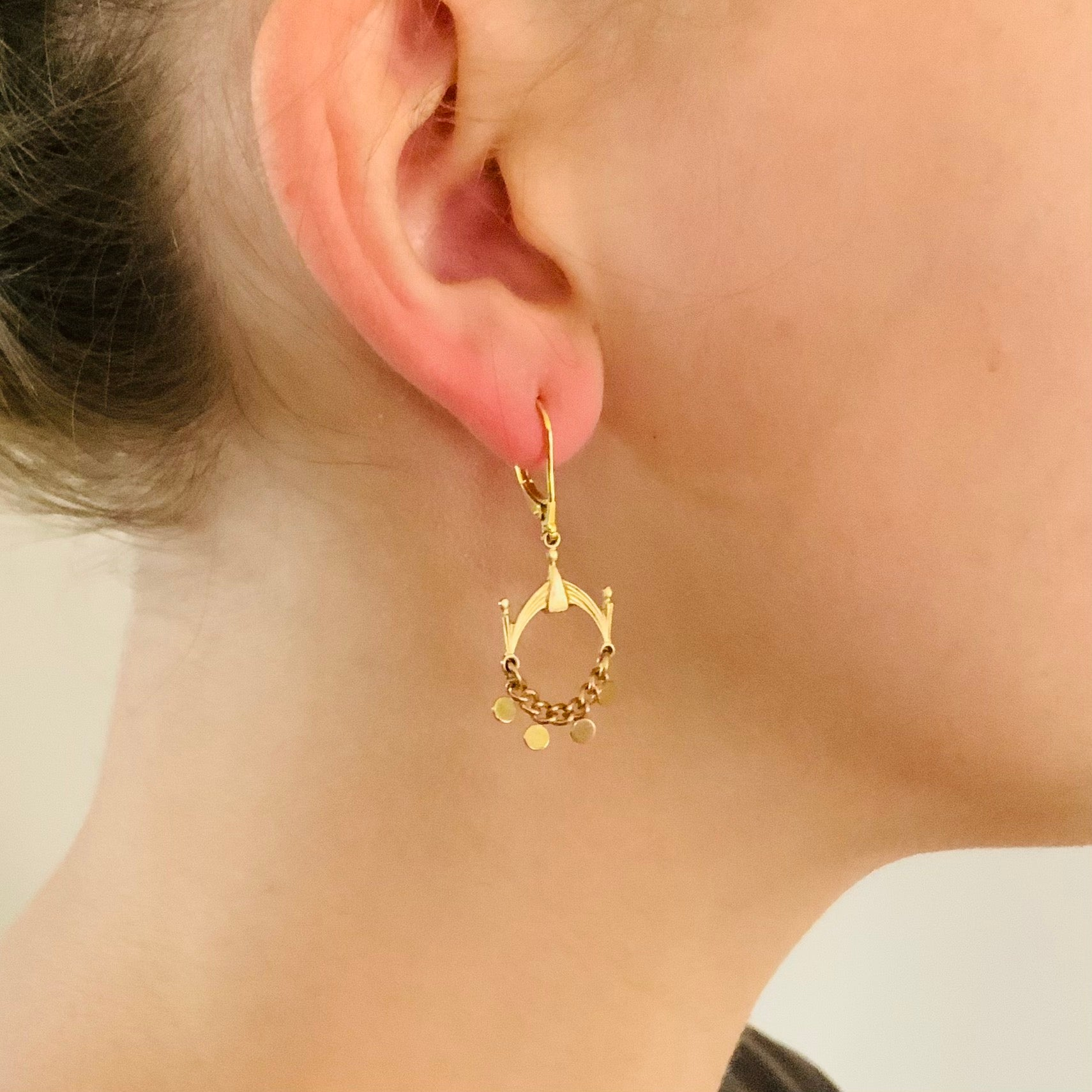 DELUXE BRASS EARRINGS // SMALL  // GYPSY HOOP