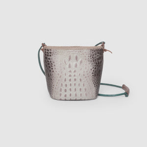 FAUX CROC BUCKET BAG