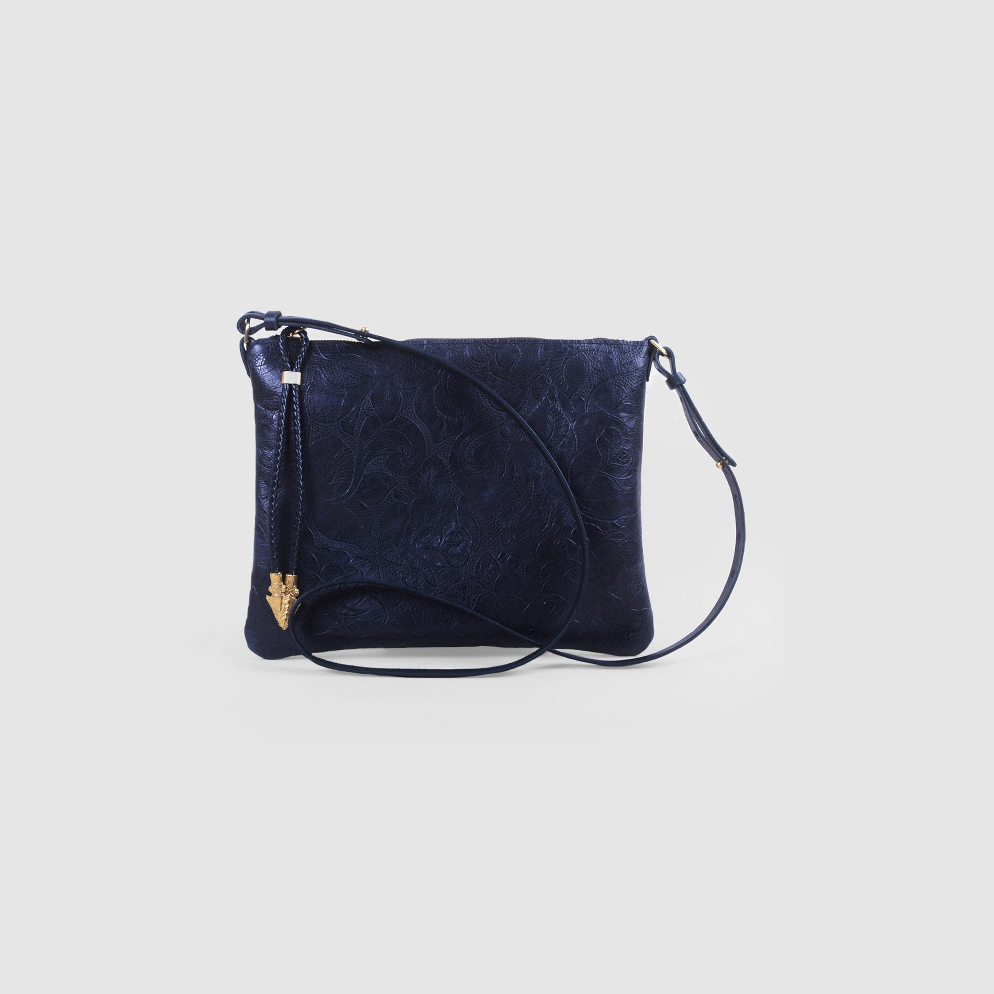 BLACK ROSES CROSSBODY CLUTCH