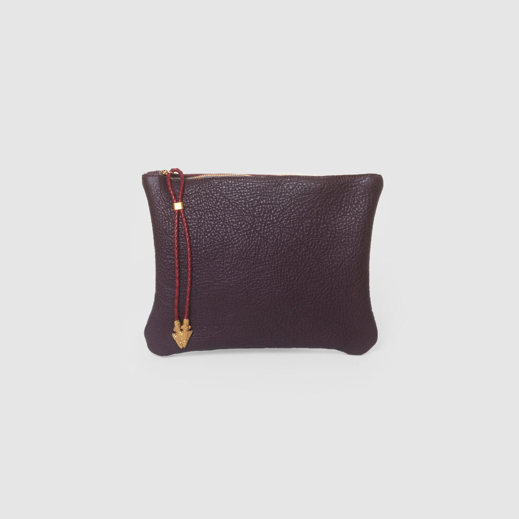 BOLO ARROW PULL CLUTCH  //  GRAPE AND SCARLETT