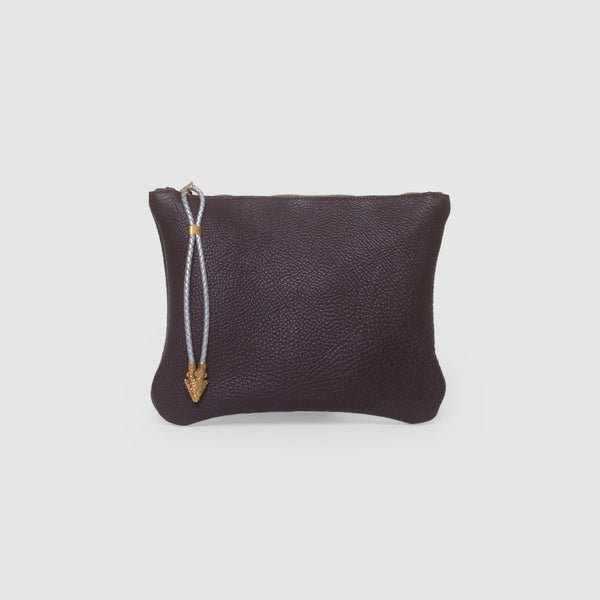BOLO ARROW PULL CLUTCH  //  GRAPE AND SILVER