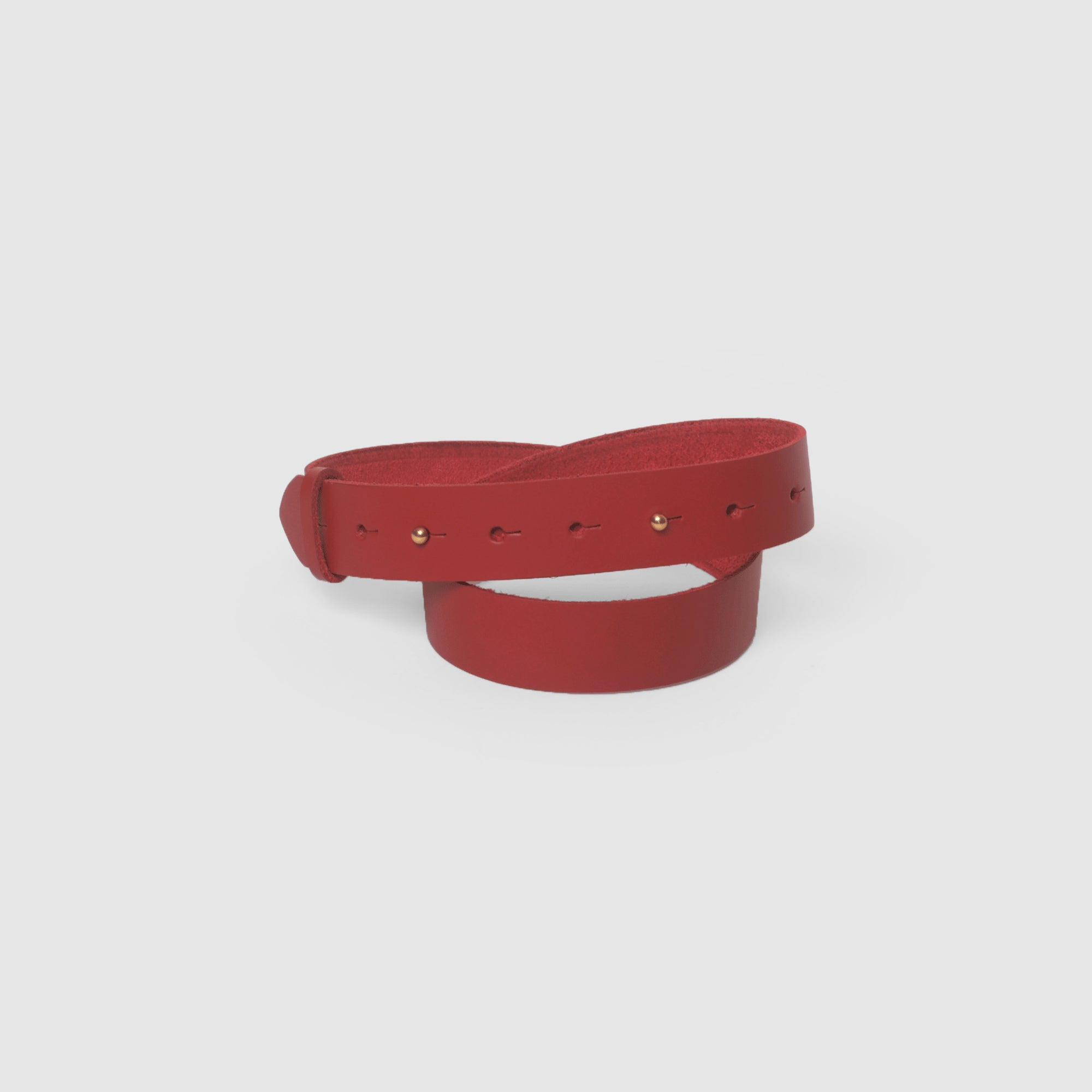 RAINBOW STUD BELT // RED