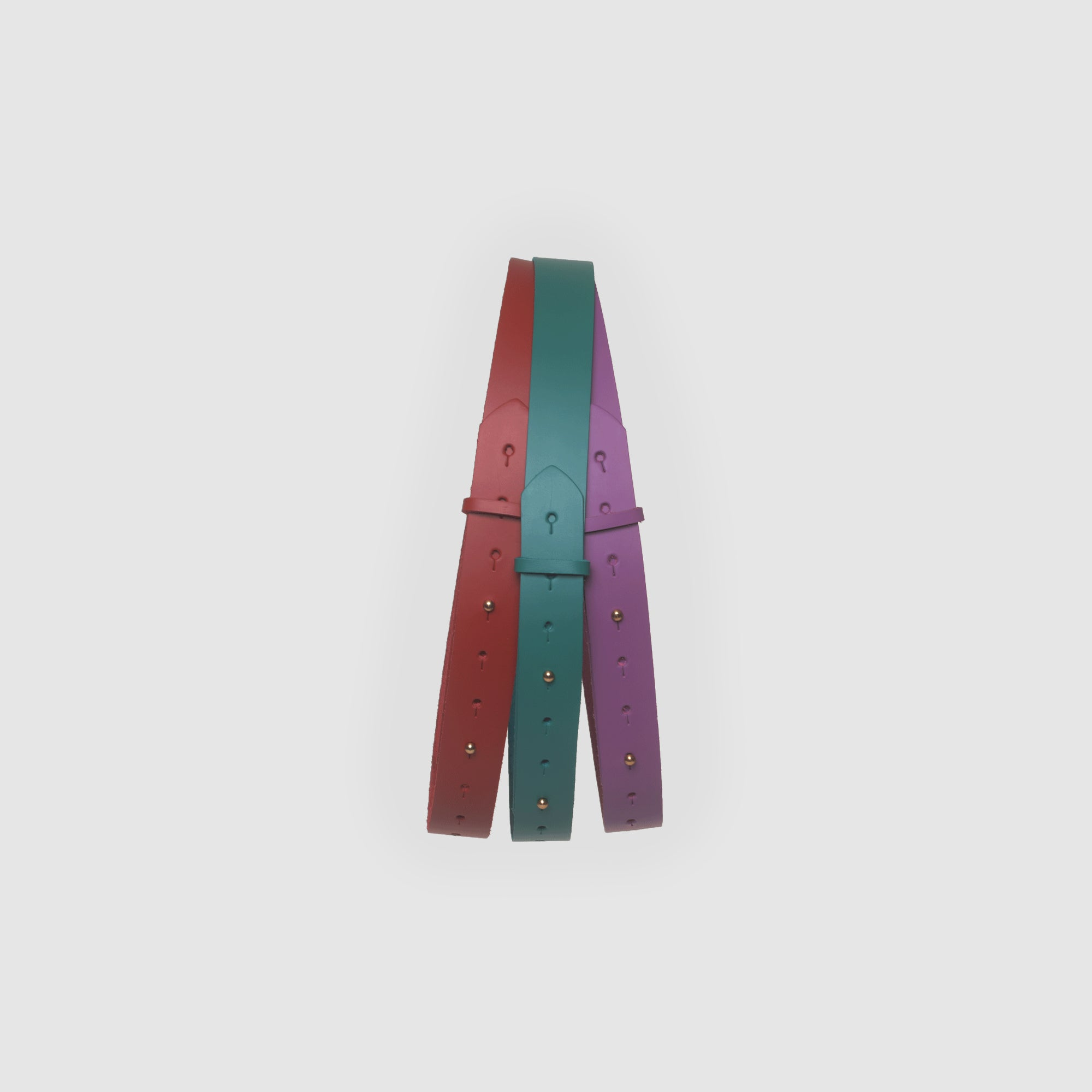 RAINBOW STUD BELT // JADE
