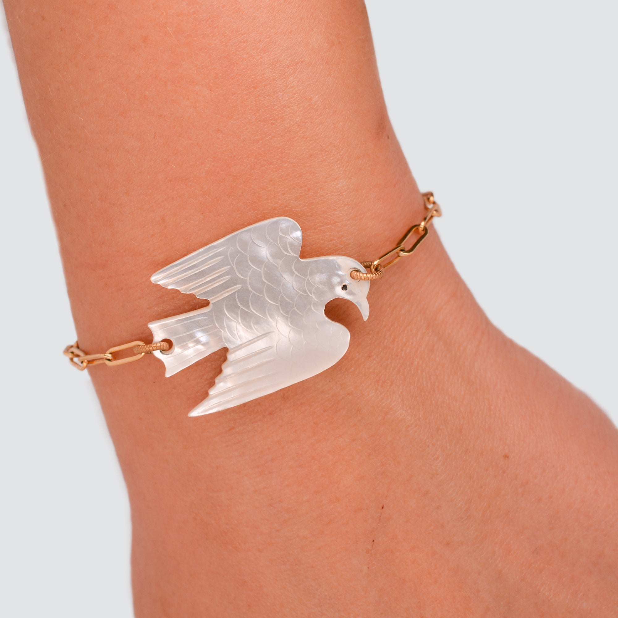 MOTHER OF PEARL // BRACELET // EAGLE