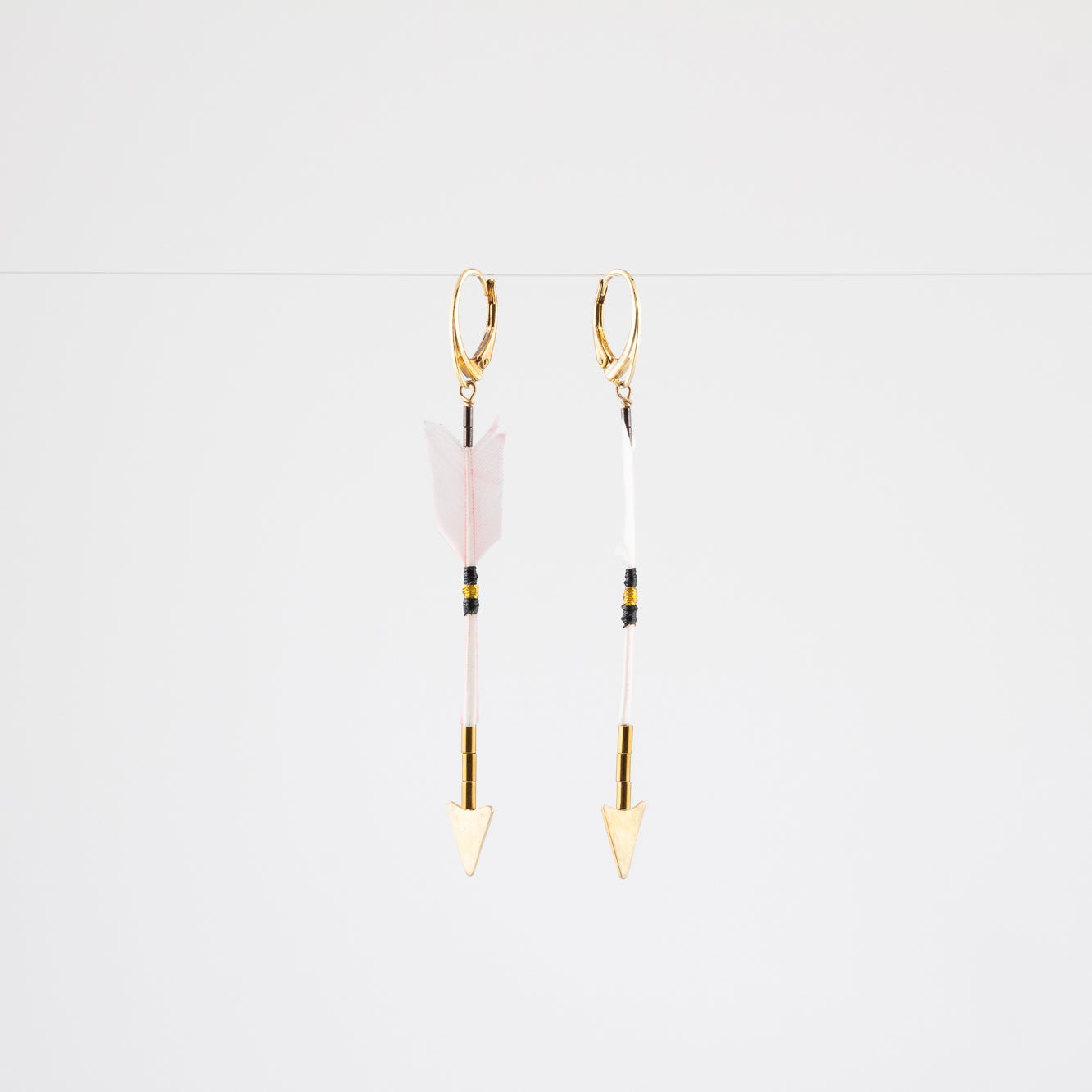 FEATHER ARROW EARRINGS // DESERT ROSE // VERMEIL