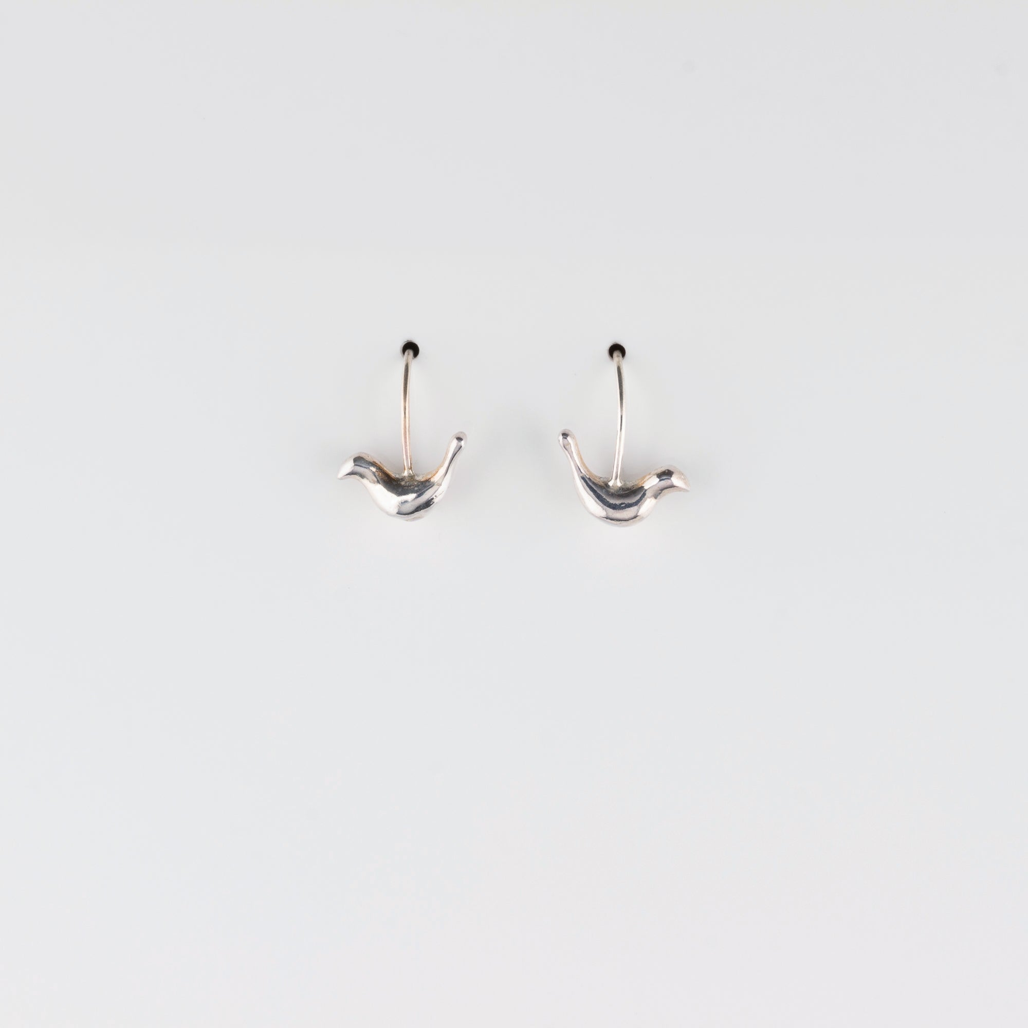 FOLK BIRD // SILVER EARRINGS