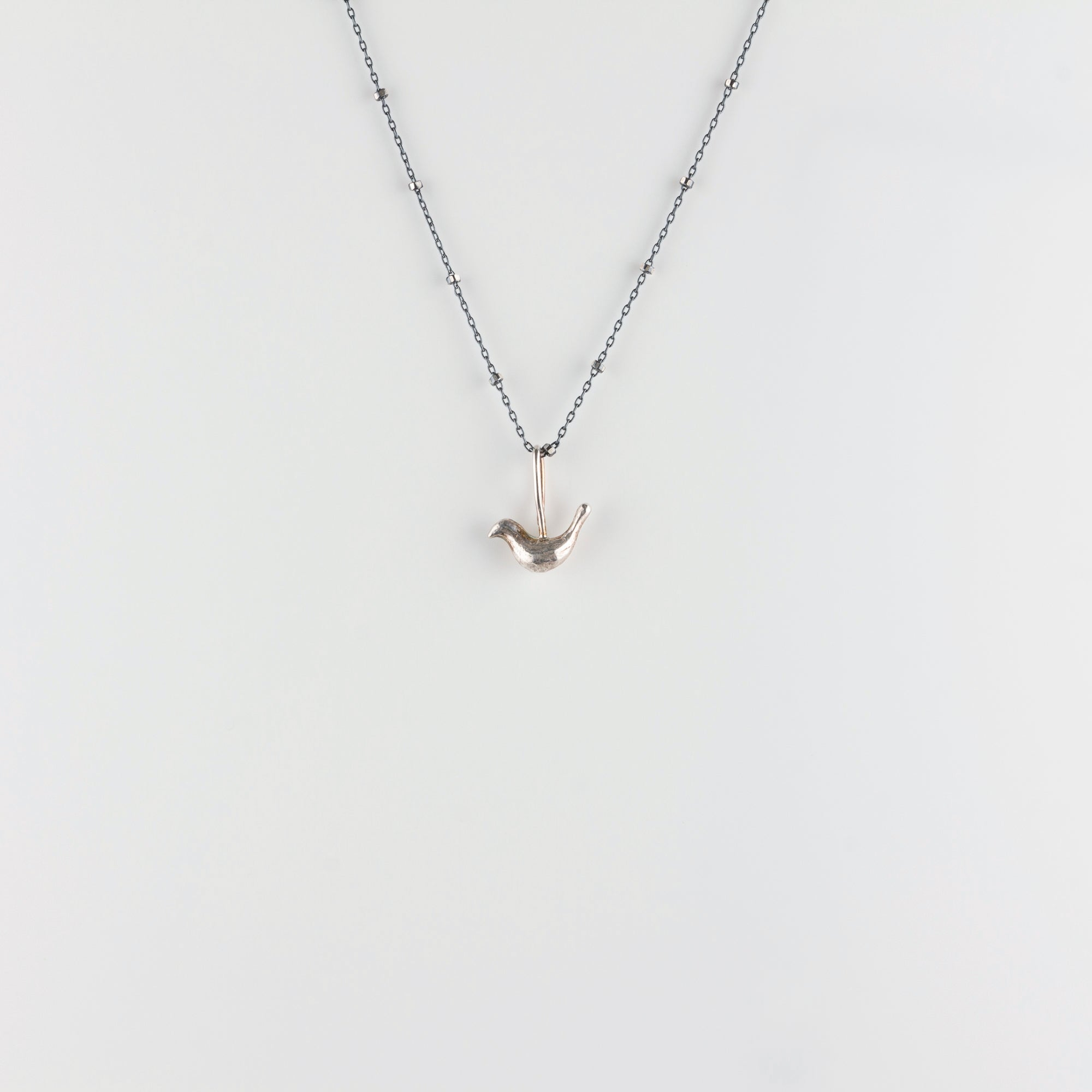 FOLK BIRD // SILVER NECKLACE