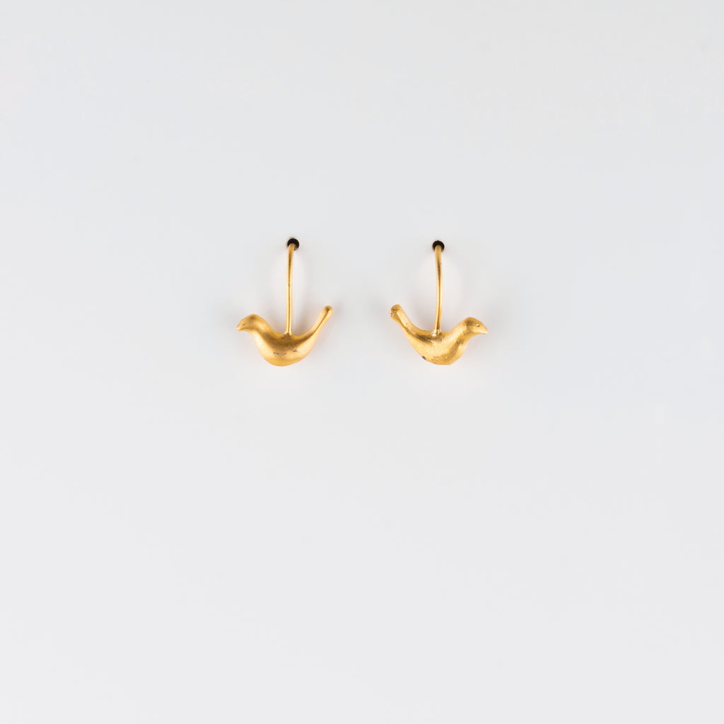 FOLK BIRD // VERMEIL EARRINGS