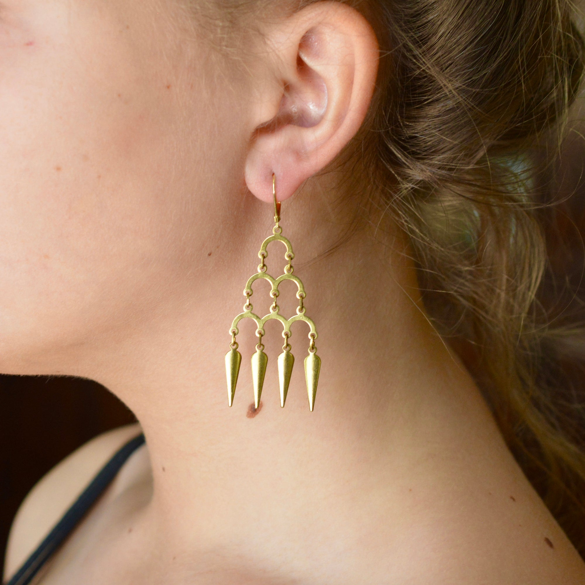 DELUXE BRASS EARRINGS // BOLLYWOOD