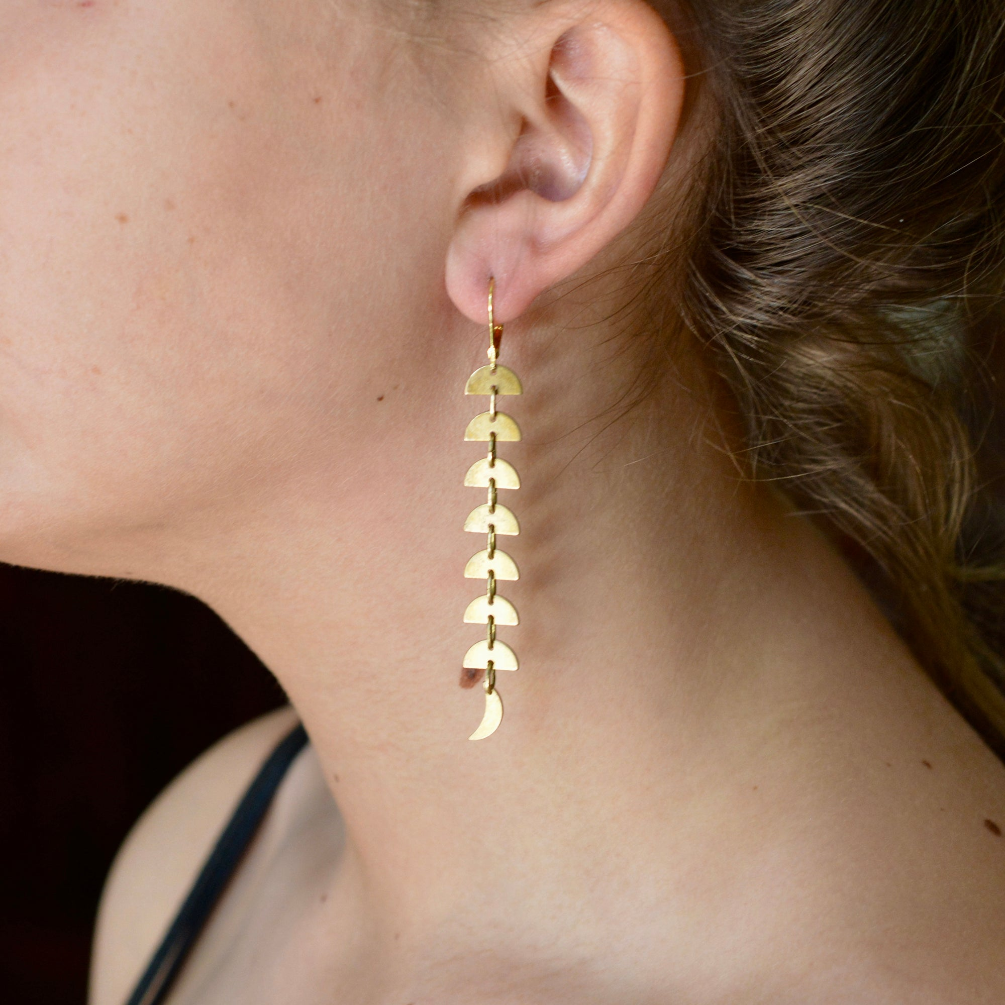 DELUXE BRASS EARRINGS // FLOW