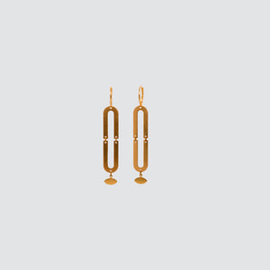 DELUXE BRASS EARRINGS // OVAL
