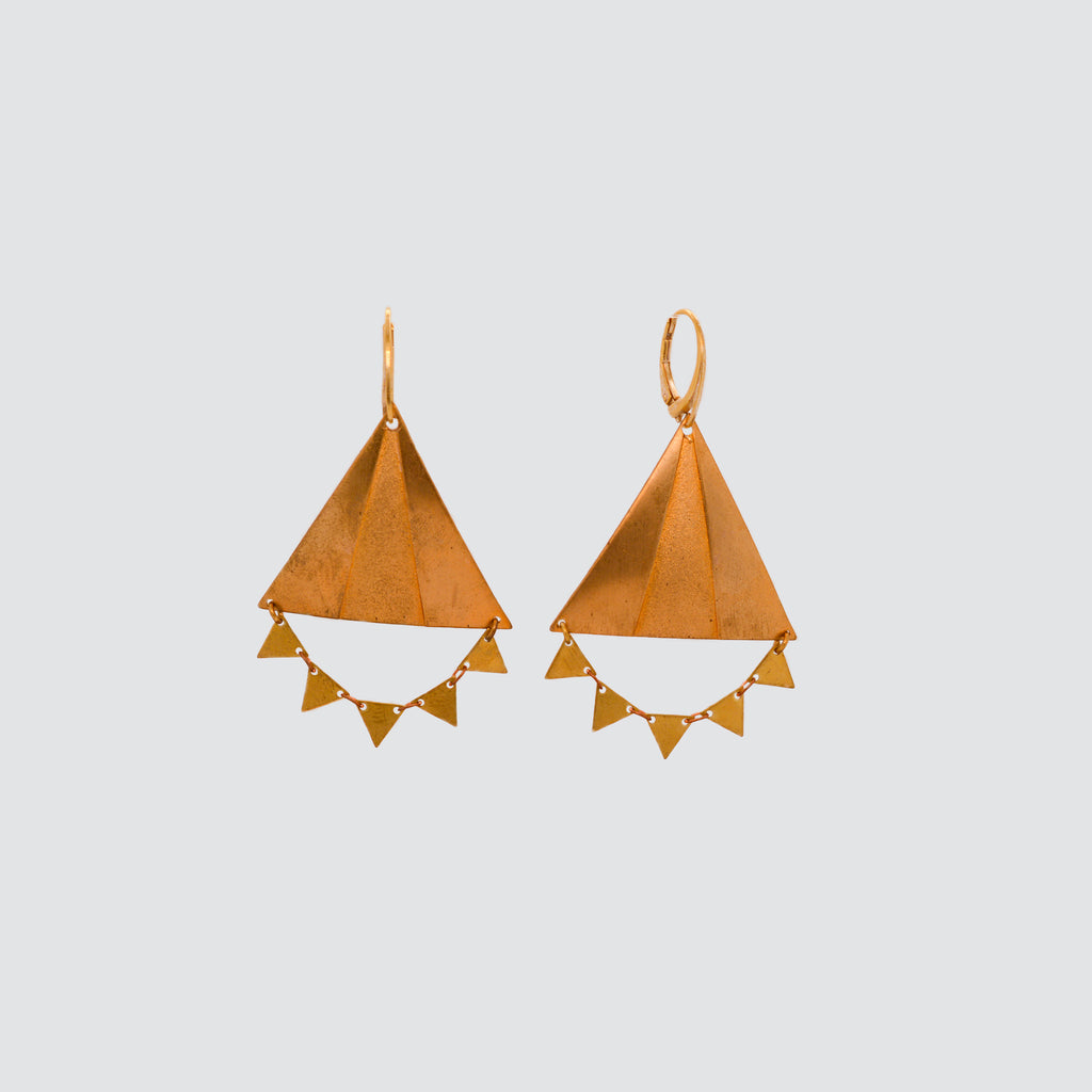 DELUXE BRASS EARRINGS // TRIANGLE
