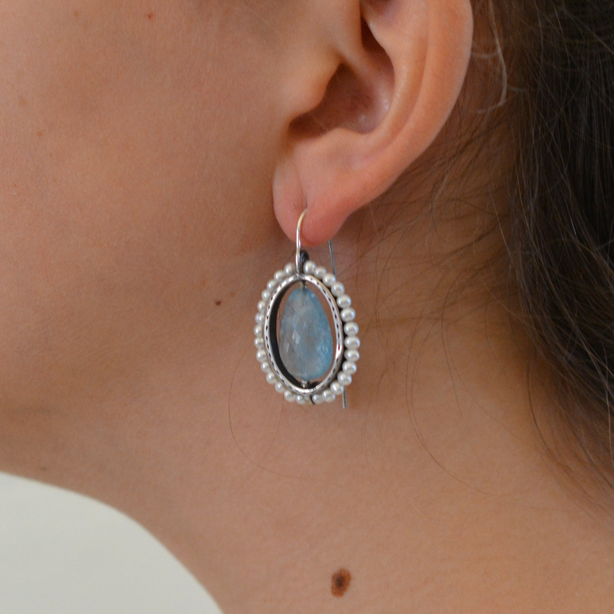 HEIRLOOM EARRINGS // AQUAMARINE // PEARL