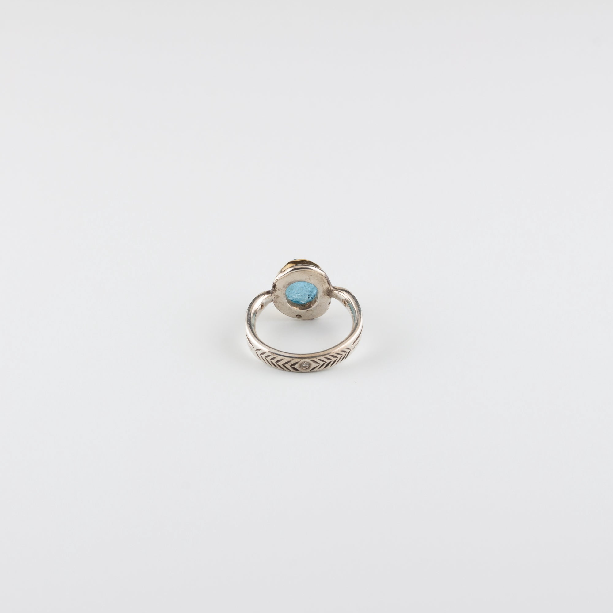 ARROW RING // AQUAMARINE & RECYCLED DIAMONDS